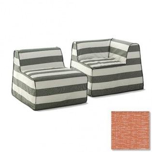 InOut 406/407 Modular-Sofa, Bezug Rete Arancione