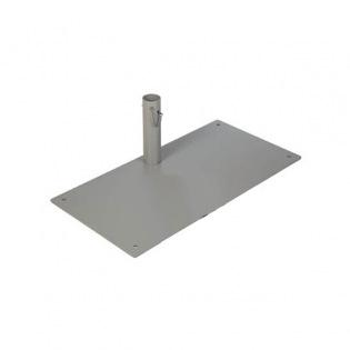 Bodenplatte 8 kg, Hülse Ø 78 mm für Sonnensegel