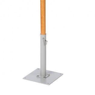 Bodenplatte zum Festschrauben, Hülse Ø 78 mm, für Sonnensegel
