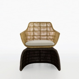 CRINOLINE Armlehnstuhl/Sessel, Abakageflecht