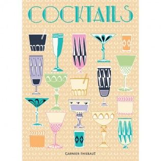Cocktails Orange Geschirrtuch, 4er Set