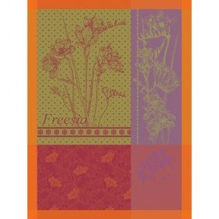 Freesia Orange Geschirrtuch, 4er Set