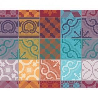 Mille Tiles Multicolore beschichtetes Tischset