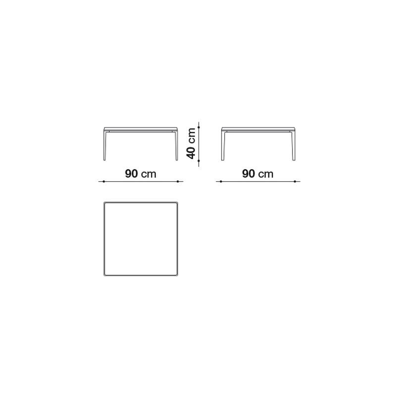 B&B Italia MICHEL Indoor Couchtisch, quadratisch on